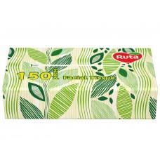 Косметичні серветки RUTA в плівці, 150 листів