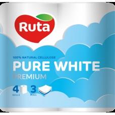 Туалетная бумага RUTA Pure White